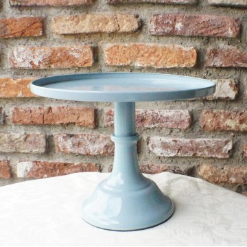 "10"" Blue Cake Stand"