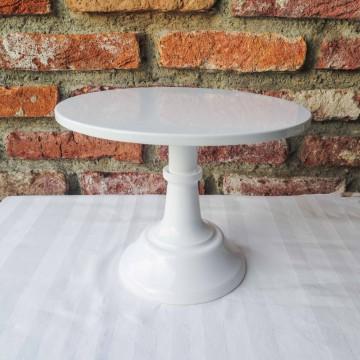 """10"""" White Cake Stand"""