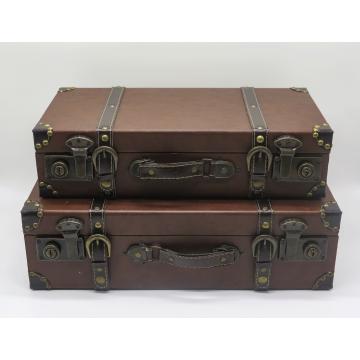 Brown Vintage Suitcase (Set of 2)