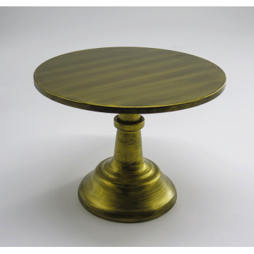 "10"" Rustic Gold Cake Stand"