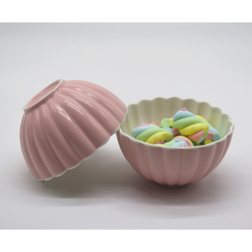 Pink Scalloped Bowl