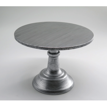 "10"" Rustic Silver Cake Stand"