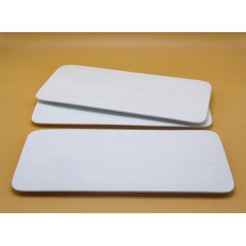 White Ceramic Plate (Flat)