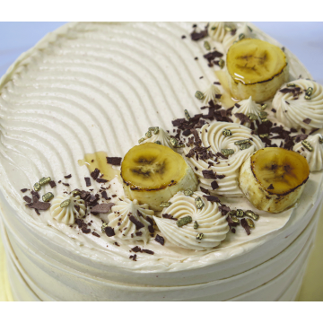 Bananas over Chocolate Cake