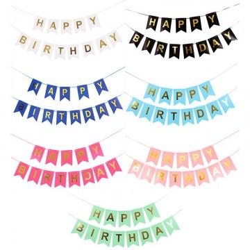 Happy Birthday bunting banner