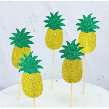 Pineapple Cupcake Topper (Set of 5)