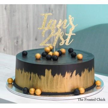 Minimalist Black x Gold Cake