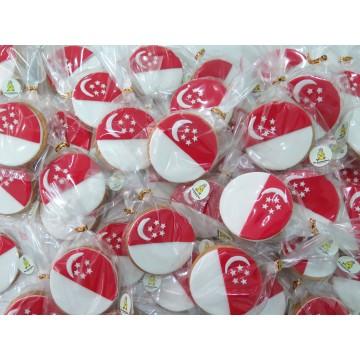Singapore Flag cookies