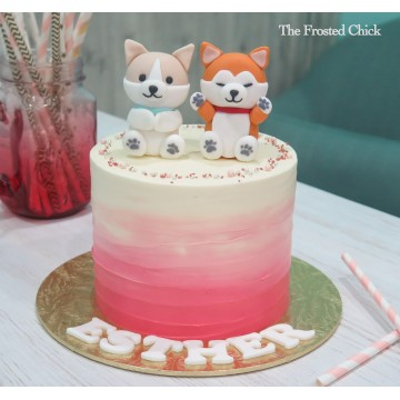 Ombre Puppy Dogs Cake