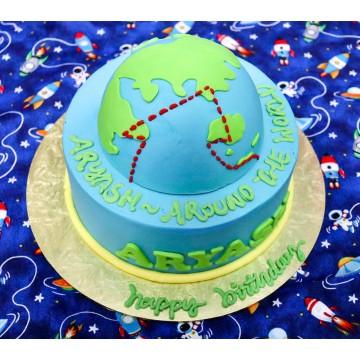 Around The World Globe Cake