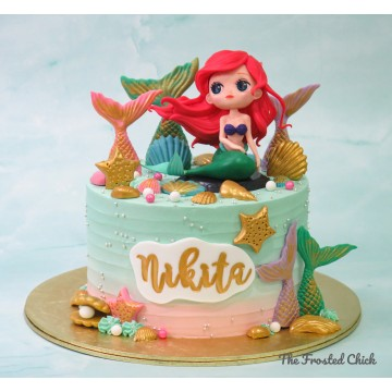 Golden tails Little Mermaid Cake