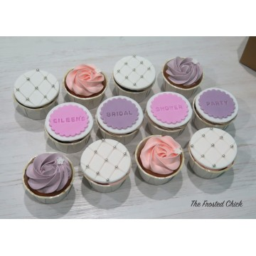 Quilted + Rosette Cupcakes