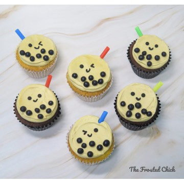 Bubble tea Cupcakes