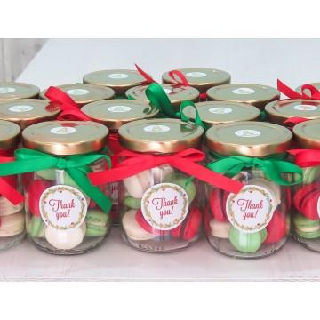 Mini Macaron Jar (Christmas)