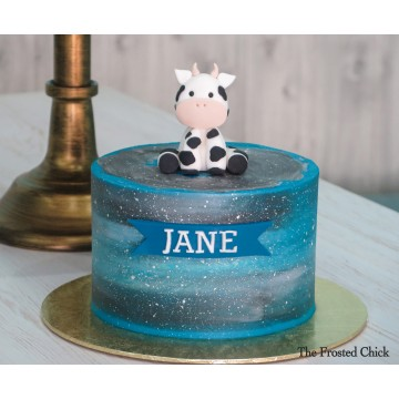 Cow & Galaxy Cake
