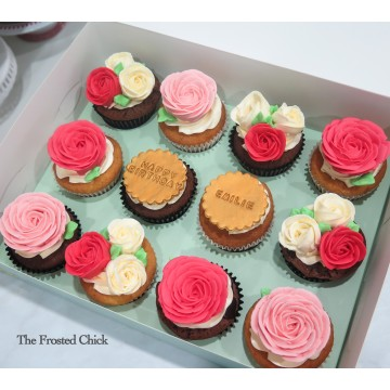 3D Floral (Roses) Cupcakes
