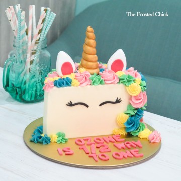 Half Birthday Unicorn Cake