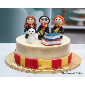 Golden Trio Wizards Cake
