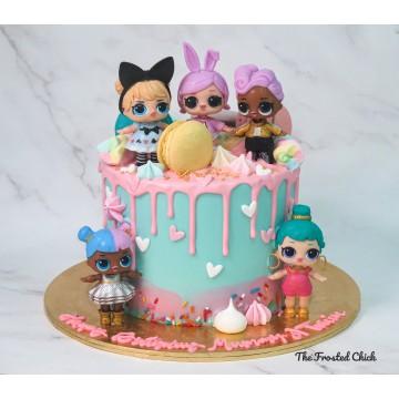 LOL Surprise Inspired Macaron Drip Cake