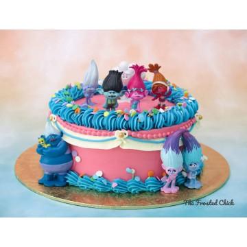 Trolls Inspired Celebration Cake