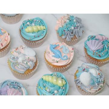 Underwater Seashells Cupcakes