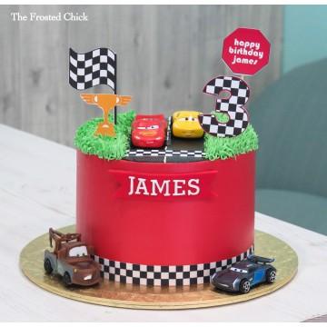 Lightning McQueen Race Car Cake