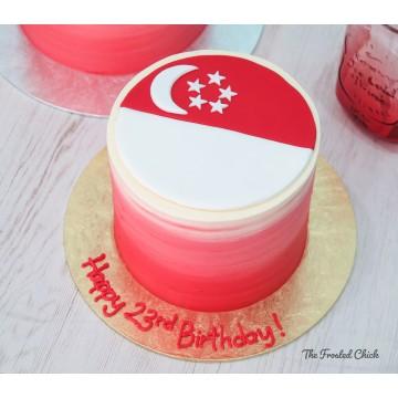 Singapore Flag Cake