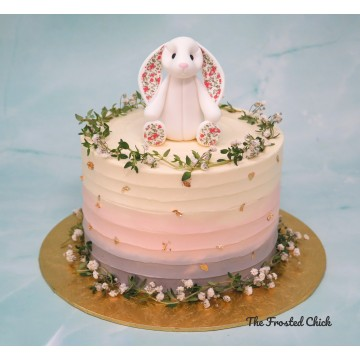 Jelly Cat Bunny Inspired Rustic Pastel Cake