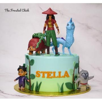 Raya and the Last Dragon Inspired Cake