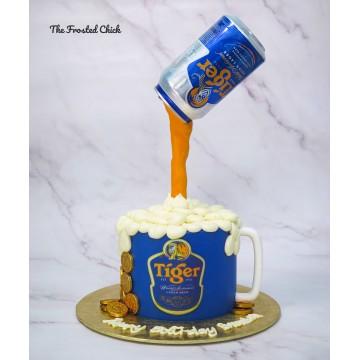 Tiger Beer Mug Cake