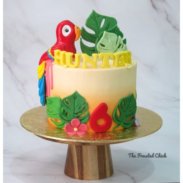 Tropical Parrot Cake