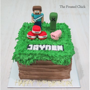 Minecraft Inspired Cake