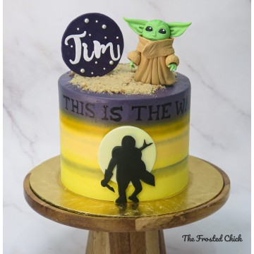 Mandalorian Inspired Cake