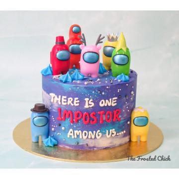 The Impostor Among Us Galactic cake