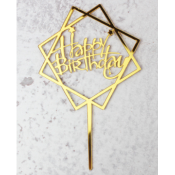 Happy Birthday Acrylic Topper (Square)