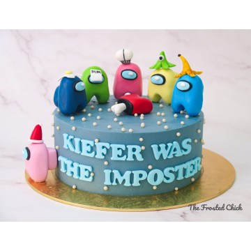 THE IMPOSTOR Among Us Inspired Cake