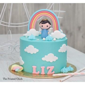 Angelic Baptism Cake
