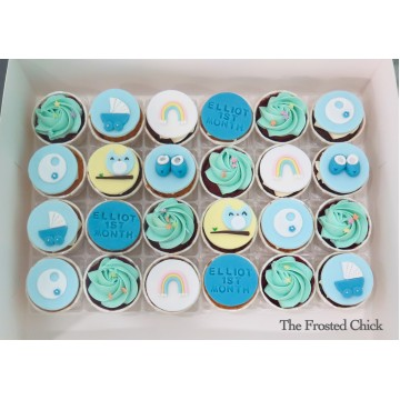 Baby Shower Mini Cupcakes (Per Two Dozen; 24 pcs)