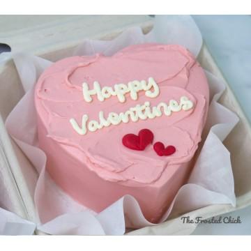 Pink Valentines (Bento Heart Cake)