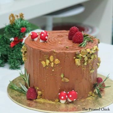 Log stump Cake