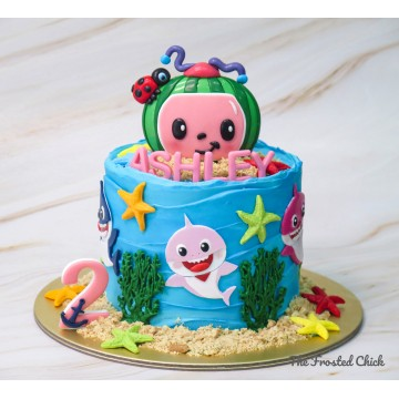 Cocomelon x Baby Shark Inspired Cake