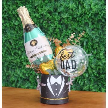 Best Dad In The World Balloon Bouquet Box