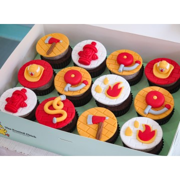 Fire Fighter Cupcakes