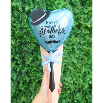 Fantastic Happy Father's Day Heart Foil Hand Bouquet