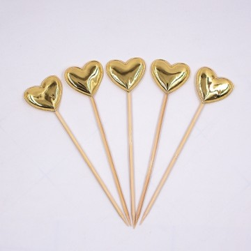 Heart Cake Toppers (gold)