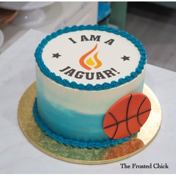 Basketball cake with any Team Logo