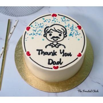 Dad Cake (Minimalist Korean Style)