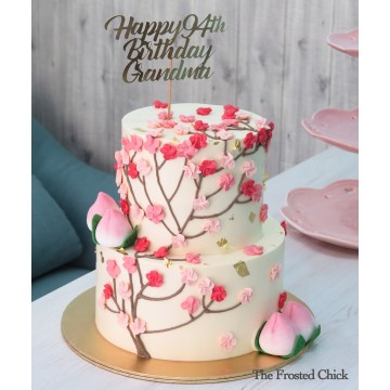 Longevity Cherry Blossoms Cake