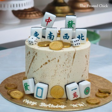 Minimalistic Mahjong Cake (Money pulling option available)