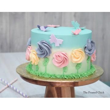 Pastel Garden Cake